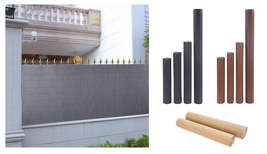 pvc sichtschutzmatte sichtschutzzaun garten balkon zaun mit befestigungskit ebay. Black Bedroom Furniture Sets. Home Design Ideas