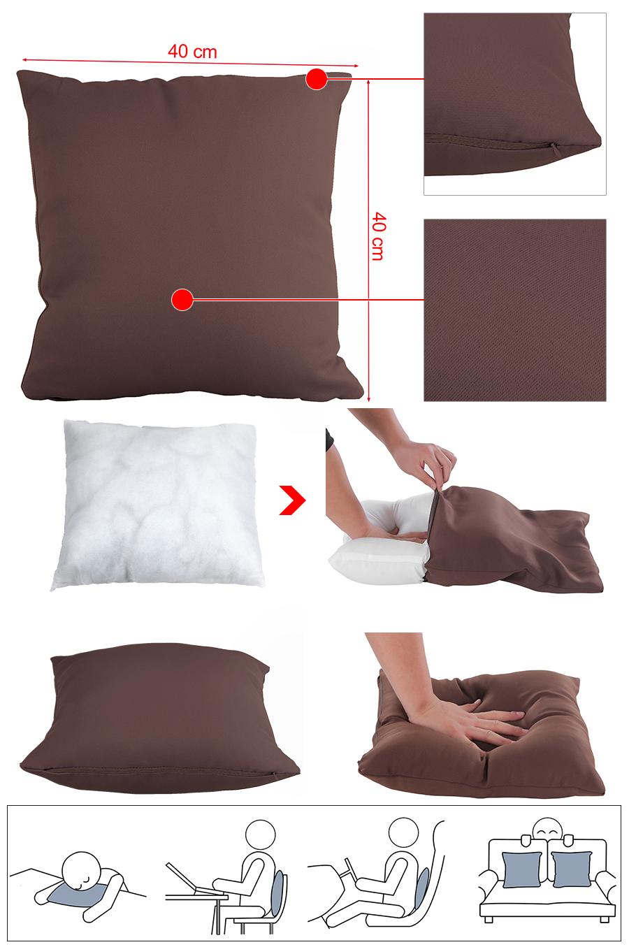 songmics kissenbezug kissenh lle sofakissen dekokissen 40x40cm lcp40k ebay. Black Bedroom Furniture Sets. Home Design Ideas