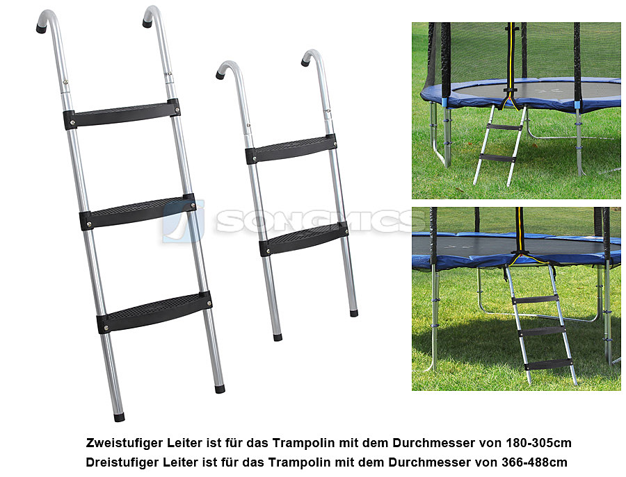 trampolinleiter einstiegsleiter leiter zubeh r f r gartentrampolin trampolin spl. Black Bedroom Furniture Sets. Home Design Ideas
