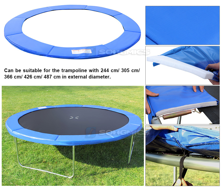 8ft 10ft 12ft 14ft 16ft trampoline replacement safty surround pad padding stp ebay. Black Bedroom Furniture Sets. Home Design Ideas
