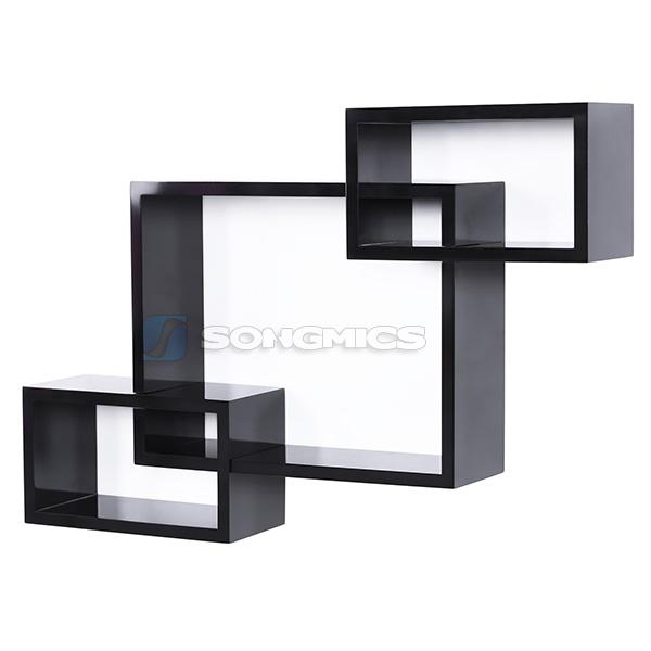 songmics set of 3 floating cube wall storage shelves lounge display shelf ebay