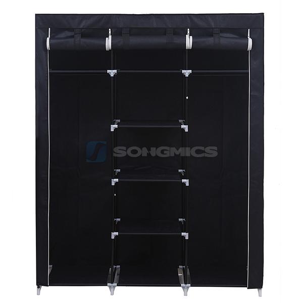 songmics gro xxl kleiderschrank faltschrank garderobenschrank campingschrank ebay. Black Bedroom Furniture Sets. Home Design Ideas