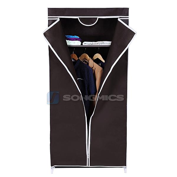 songmics garderobenschrank faltschrank kleiderschrank campingschrank schrank ebay. Black Bedroom Furniture Sets. Home Design Ideas