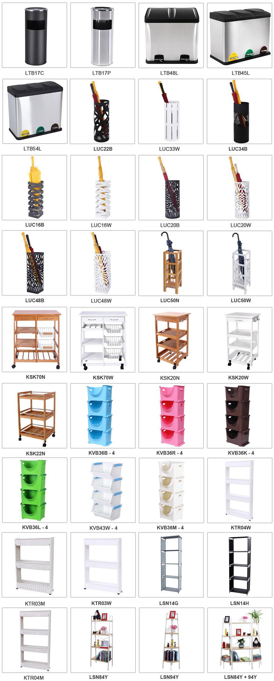 songmics kitchen trolley dining cart storage drawers shelves metal baskets ksk