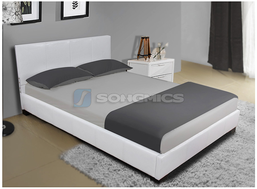 Letto matrimoniale in similpelle modern struttura letti for Struttura letto matrimoniale ebay