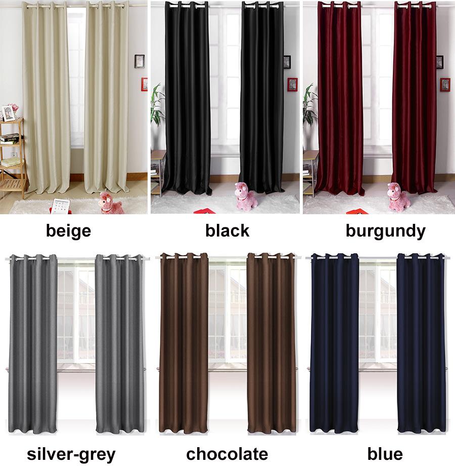 Readymade Curtain Light Blocking Curtain Light Proof Blackout 57 X 69 Ebay