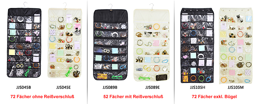 schmuckhalter schmuck wand tasche h nge organizer aufbewahrung taschenvorhang ebay. Black Bedroom Furniture Sets. Home Design Ideas