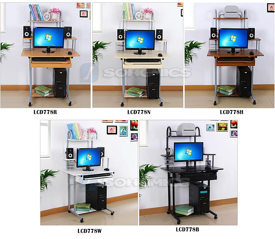 bureau informatique bureau table de travail pc ordinateur meuble clavier laptop ebay. Black Bedroom Furniture Sets. Home Design Ideas
