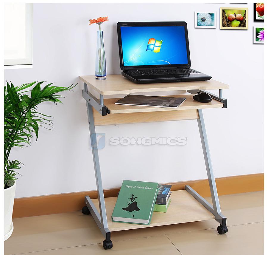 songmics bureau informatique meuble de bureau pour ordinateur pc laptop lcd811n ebay. Black Bedroom Furniture Sets. Home Design Ideas