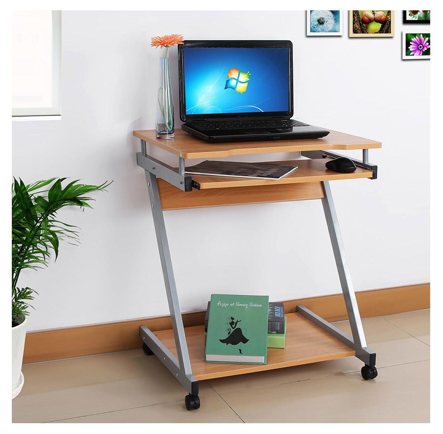 songmics bureau informatique meuble de bureau pour ordinateur pc laptop lcd811r ebay. Black Bedroom Furniture Sets. Home Design Ideas
