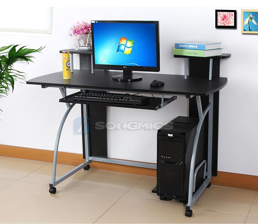 Scrivania pc computer tavolo ufficio con ripiano tastiera - Tavolo per computer ...