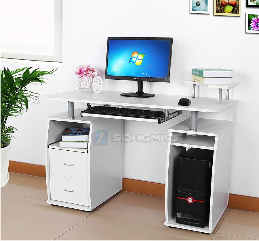 Computertisch schreibtisch pc tisch b rotisch arbeitstisch for Schreibtisch ausfahrbar