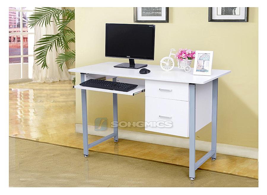 bureau informatique pc laptop bureau table de travail ordinateur meuble lcd303w ebay. Black Bedroom Furniture Sets. Home Design Ideas