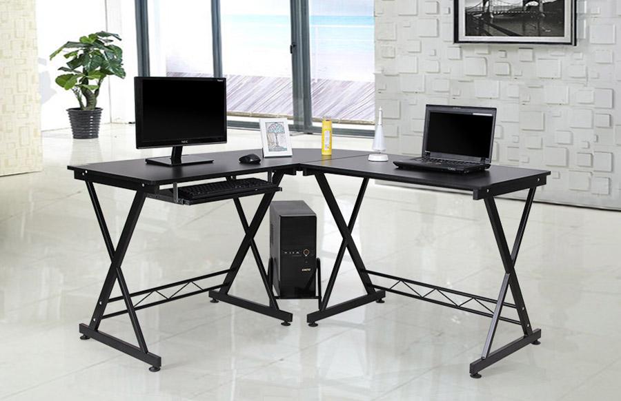 songmics bureau informatique meuble de bureau pour ordinateur pc laptop lcd402b. Black Bedroom Furniture Sets. Home Design Ideas
