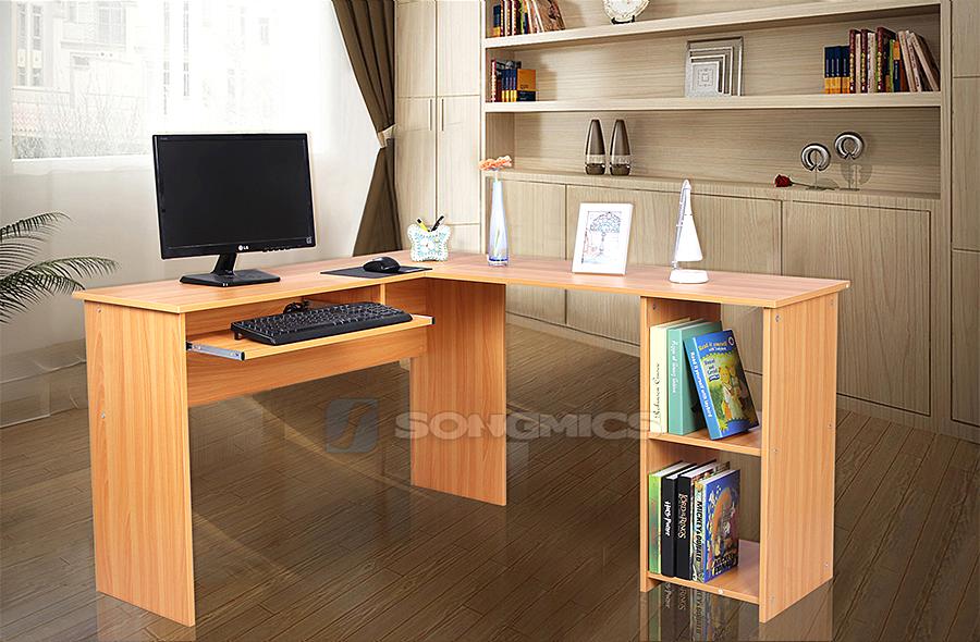 Computertisch schreibtisch pc tisch b rotisch arbeitstisch for Schreibtisch buchefarben