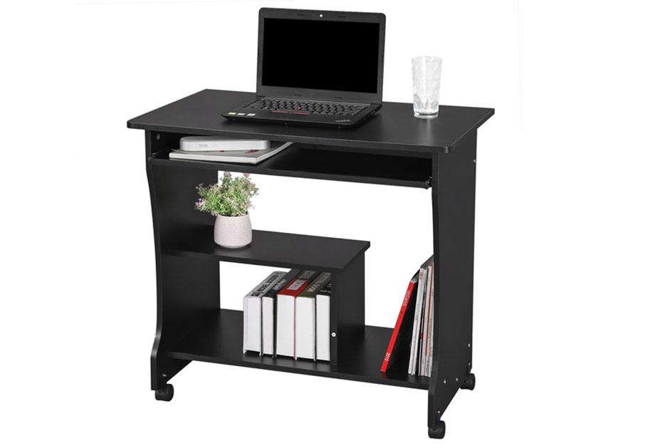 bureau informatique pc laptop bureau table de travail ordinateur meuble lcd858b ebay. Black Bedroom Furniture Sets. Home Design Ideas