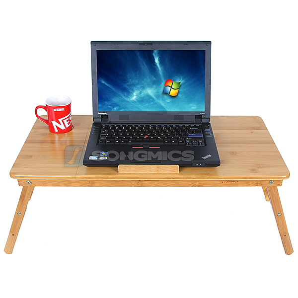 pc notebook laptop bett tisch schreibtisch f r recht und linksh nder lld004 ebay. Black Bedroom Furniture Sets. Home Design Ideas