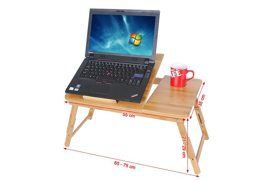 Table de lit pliable en bambou pour pc ordinateur portable - Tablette de lit pour ordinateur portable ...