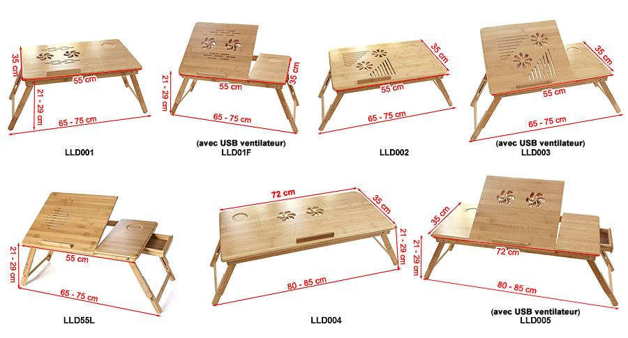 songmics table de lit pliable pour pc portable tablette. Black Bedroom Furniture Sets. Home Design Ideas