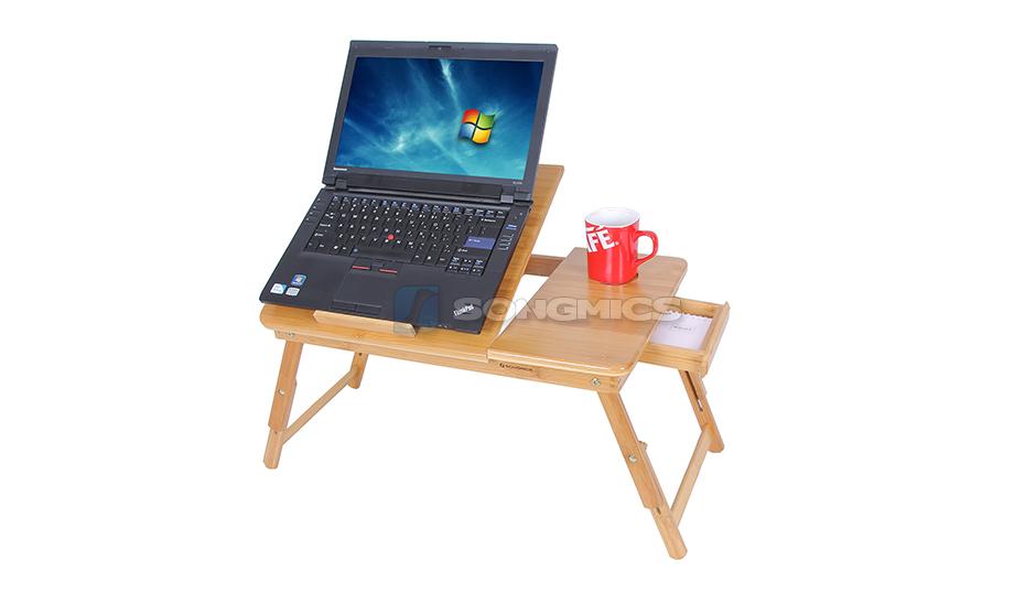 laptoptisch betttisch notebook lese tisch aus bambus mit k hler l fter lld003 ebay. Black Bedroom Furniture Sets. Home Design Ideas