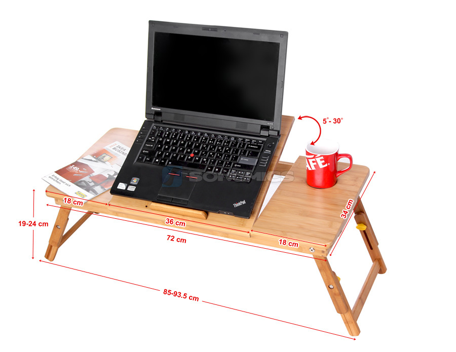 pc notebook laptop bett tisch schreibtisch bambus k hler f r linksh nder lld005 ebay. Black Bedroom Furniture Sets. Home Design Ideas