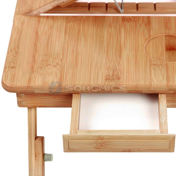 pc notebook laptop bett tisch schreibtisch bambus f r recht und linksh nder ebay. Black Bedroom Furniture Sets. Home Design Ideas