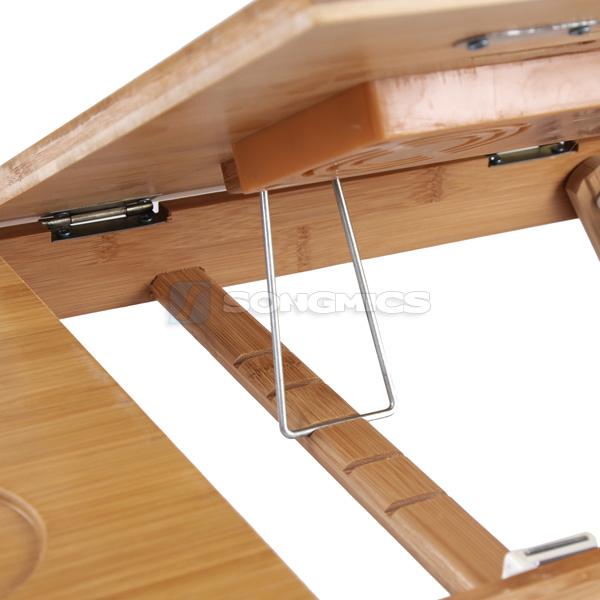 songmics pc notebook laptop bett tisch schreibtisch bambus mit k hler lld01f ebay. Black Bedroom Furniture Sets. Home Design Ideas