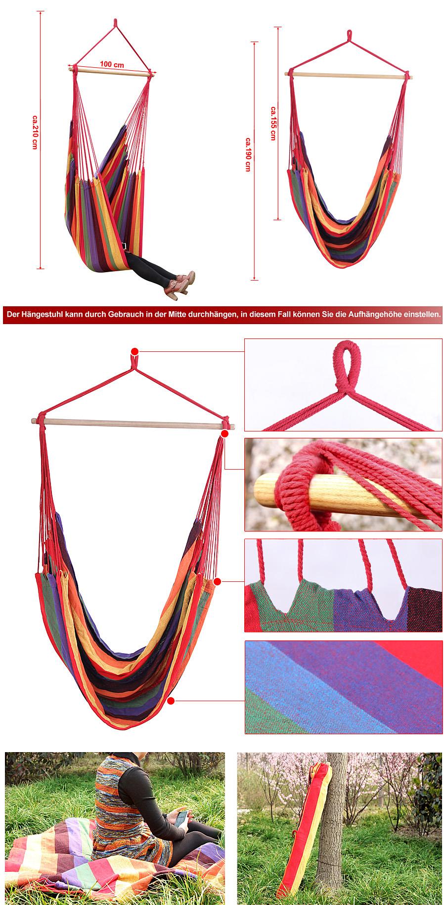 songmics 185x125 h ngematte h ngesitz h ngesessel. Black Bedroom Furniture Sets. Home Design Ideas