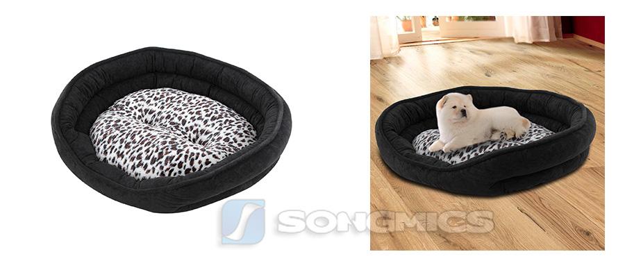 songmics veloursleder hundebett hundematte hundekissen hundesofa 60x50cm pgw20h ebay. Black Bedroom Furniture Sets. Home Design Ideas