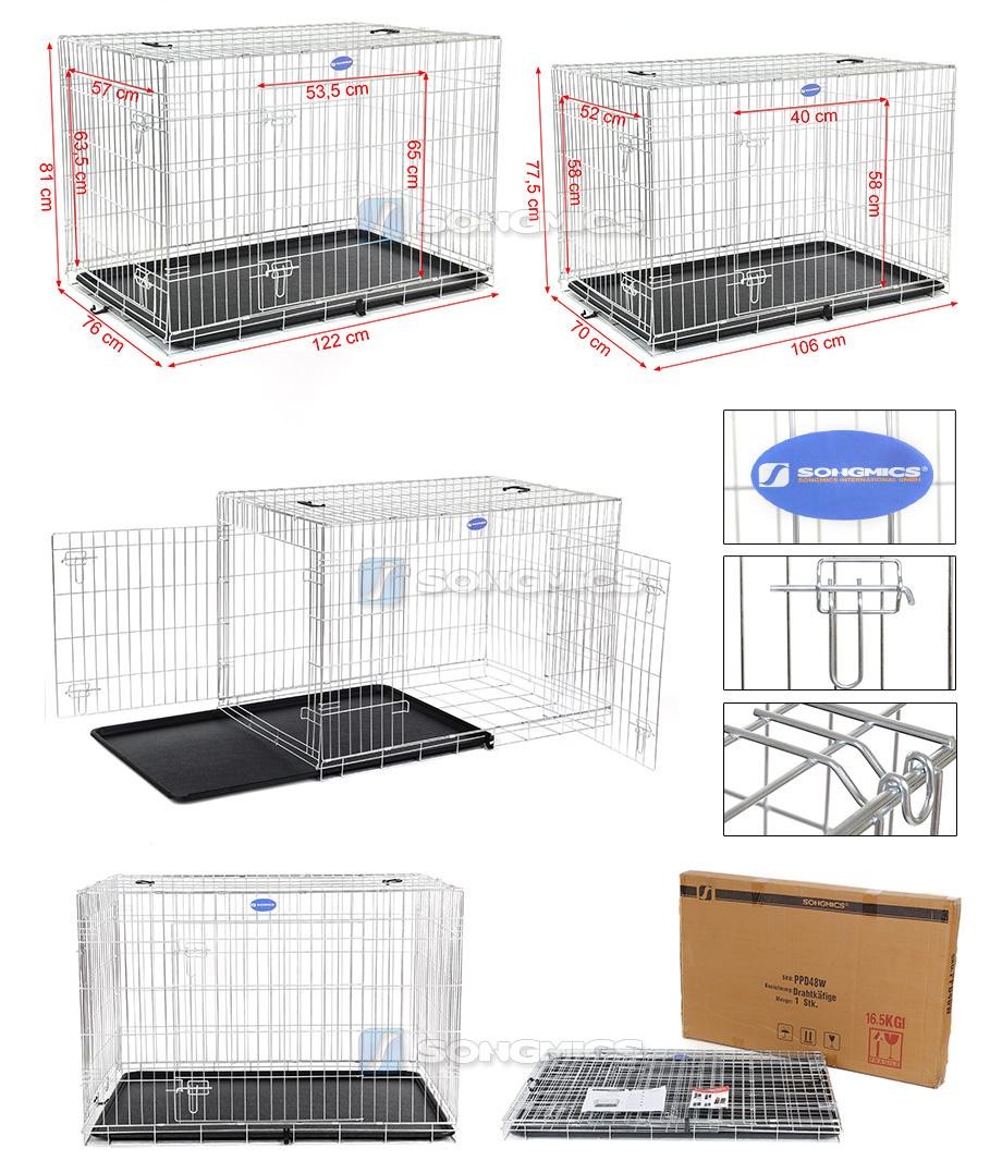 s xxl hundek fig transportbox drahtk fig transportk fig faltbar k fig silbern ebay. Black Bedroom Furniture Sets. Home Design Ideas