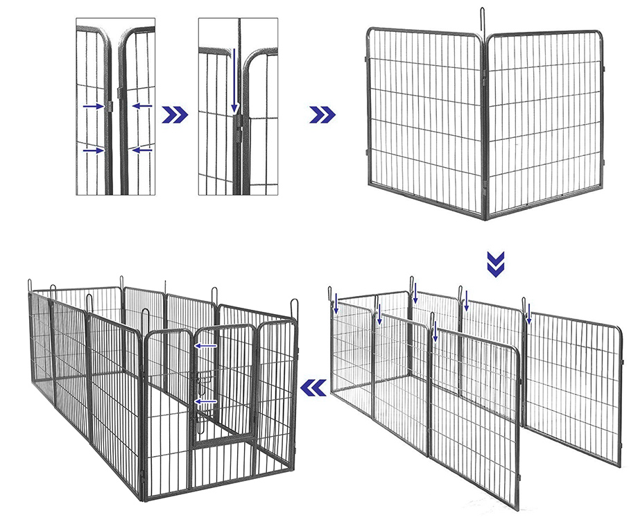 large 8 sided heavy duty dog pet pen playpen exercise whelping cage l xl xxl ebay