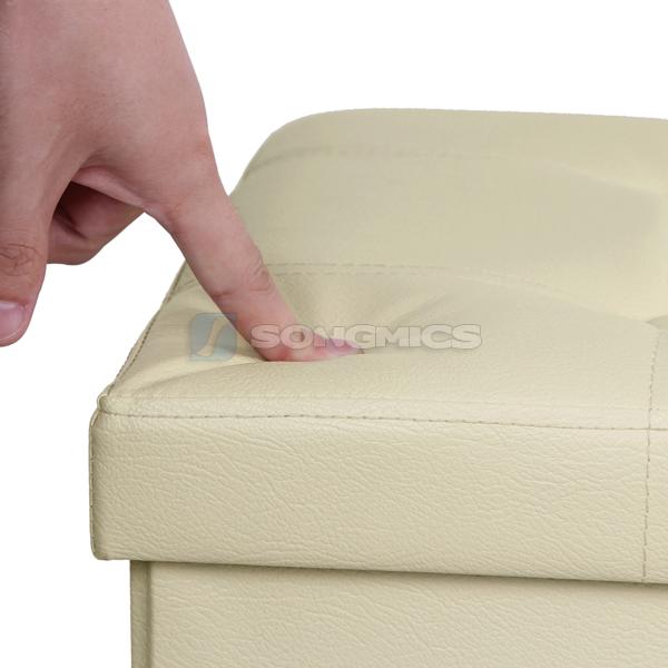 songmics sitzhocker sitzbank sitzw rfel hocker ottomane sitztruhe bank truhe ebay. Black Bedroom Furniture Sets. Home Design Ideas