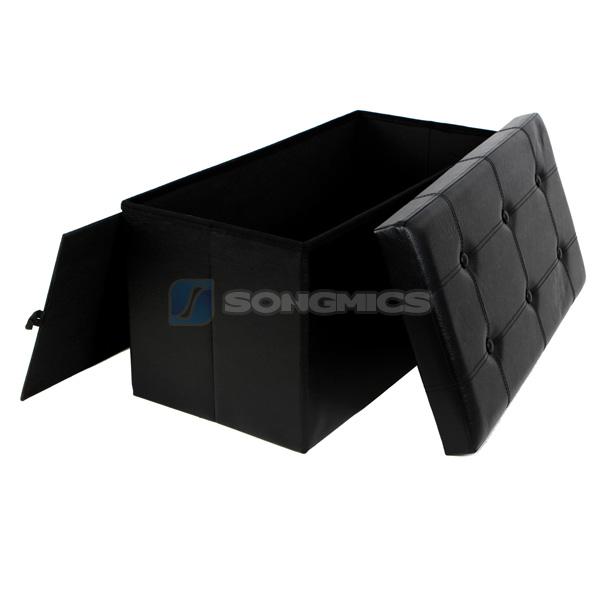 songmics 76 x 38 x 38 cm pouf cubo poggiapiedi contenitore sgabello pieghevole ebay. Black Bedroom Furniture Sets. Home Design Ideas