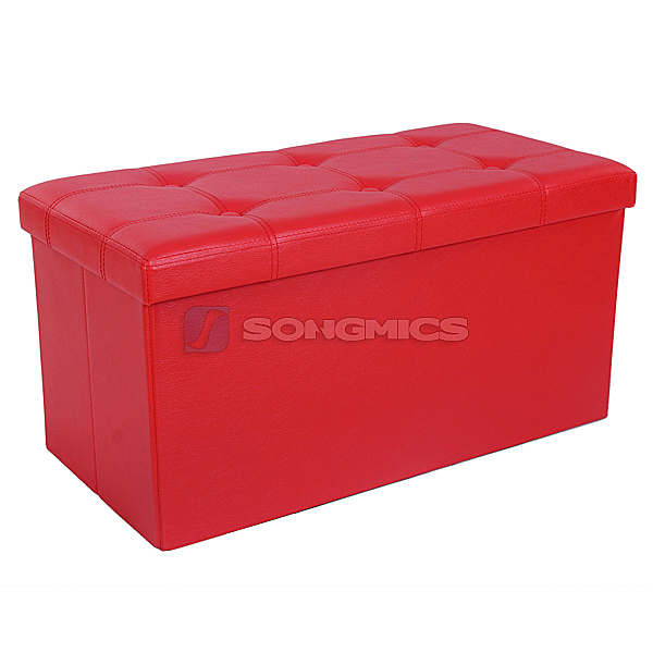 Songmics Folding Storage Ottoman 2 Seater Pouffe Seat Stool Chest Toy Box Bench Ebay