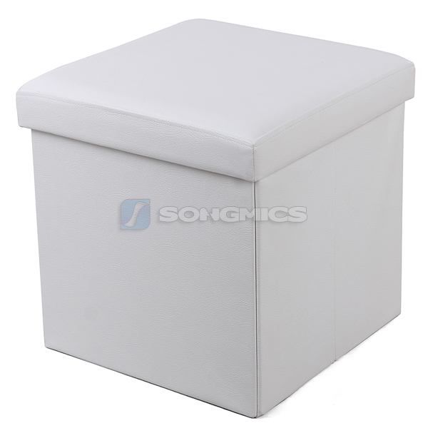 songmics faltbarer sitzhocker sitzw rfel aufbewahrungsbox hocker truhe bank ebay. Black Bedroom Furniture Sets. Home Design Ideas