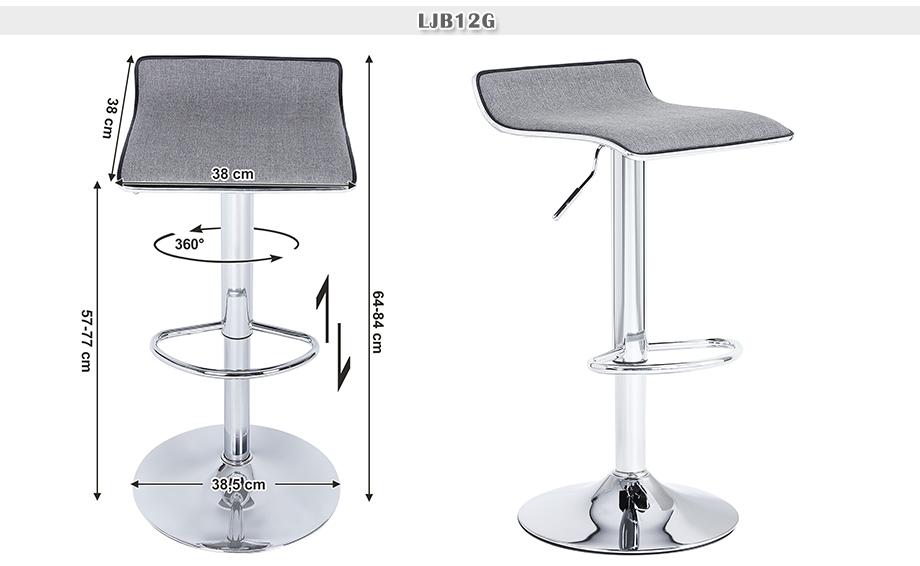 2 set Bar Stools Breakfast Kitchen Swivel Counter Chair  : 12G 1 from www.ebay.ie size 920 x 566 jpeg 195kB