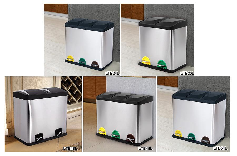 Edelstahl recycling mulleimer mulltrenner abfalleimer for Mülltrenner küche