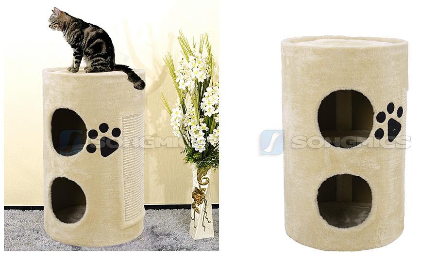 songmics kratztonne katzentonne kratzbaum katzenbaum. Black Bedroom Furniture Sets. Home Design Ideas