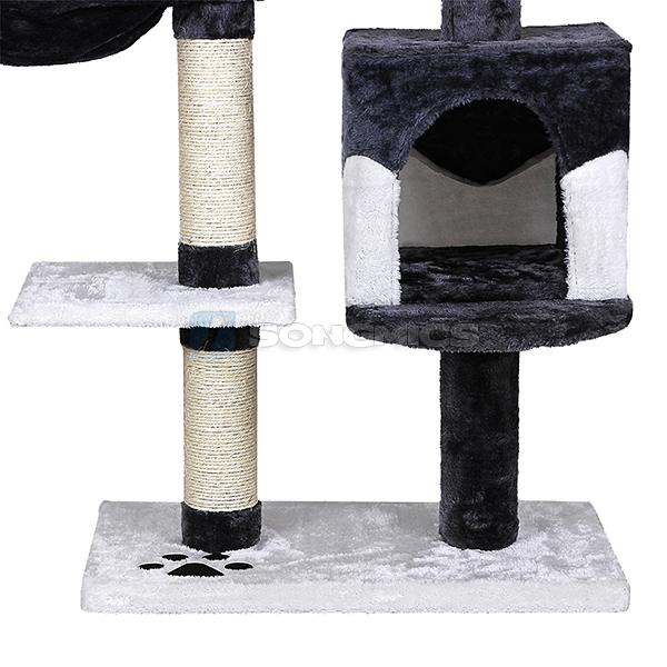 songmics 131cm kratzbaum katzenbaum katzen katzenkratzbaum spielbaum kratzb ume ebay. Black Bedroom Furniture Sets. Home Design Ideas