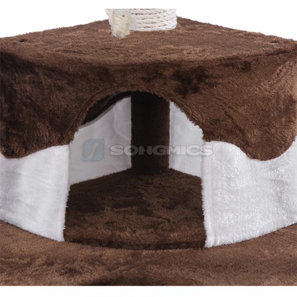 songmics kratzbaum katzenkratzbaum kratzb ume katzenbaum braun 120cm pct40k. Black Bedroom Furniture Sets. Home Design Ideas