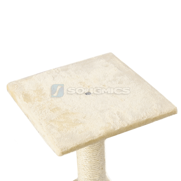 songmics mittelhoch kratzbaum katzenbaum kletterbaum beige wei 120cm pct40m ebay. Black Bedroom Furniture Sets. Home Design Ideas
