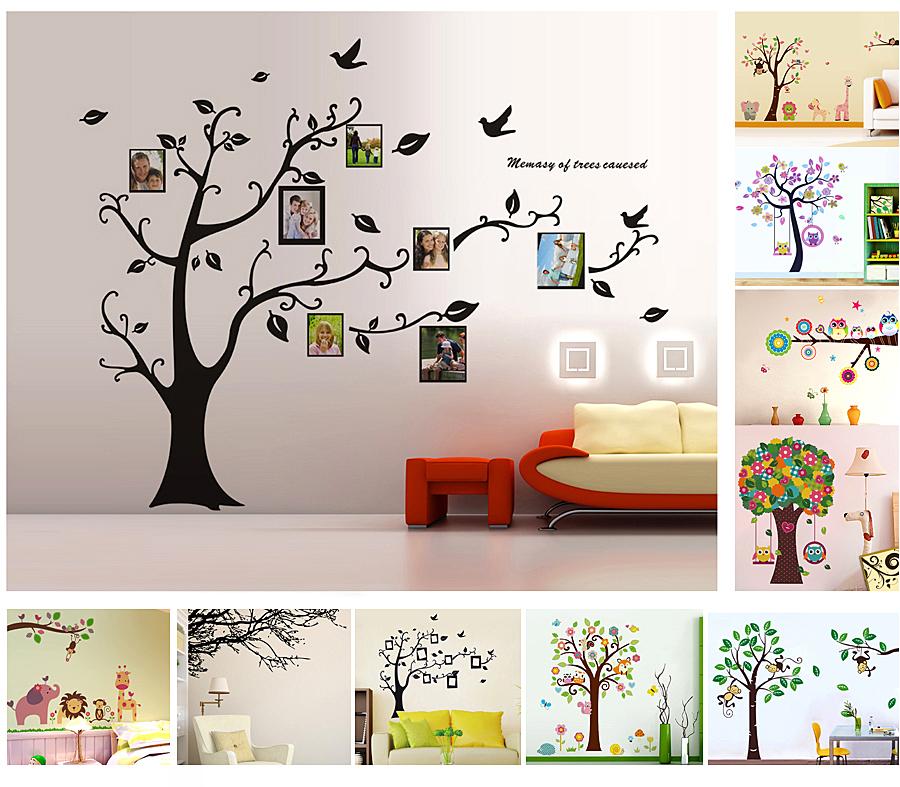 baum wandaufkleber wandsticker dekoration wandtattoo wanddeko wanddekoration ebay. Black Bedroom Furniture Sets. Home Design Ideas