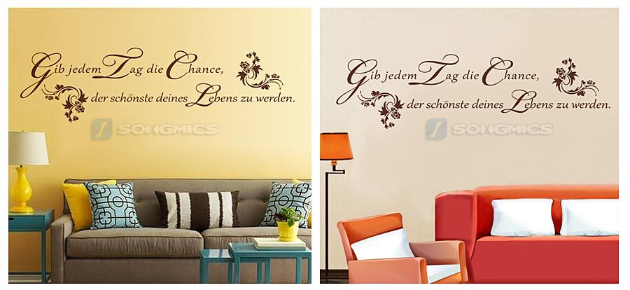 wandtattoo weisheiten spr che spruch zitat mark twain wandaufkleber braun fwt01k ebay. Black Bedroom Furniture Sets. Home Design Ideas