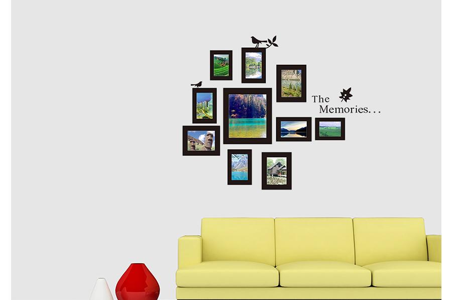 songmics bilderrahmen fotorahmen wandtattoo wandaufkleber. Black Bedroom Furniture Sets. Home Design Ideas