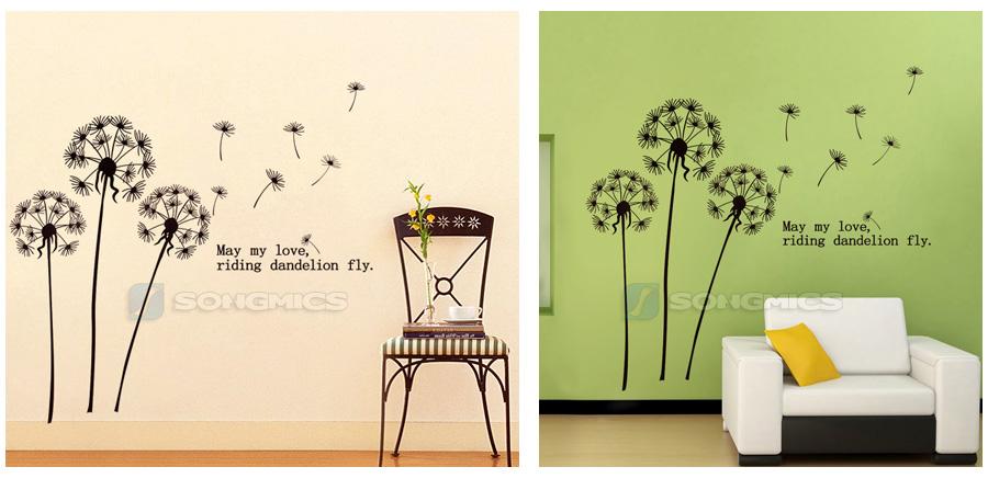 l wenzahn pusteblume wandtattoo wandsicker wandaufkleber. Black Bedroom Furniture Sets. Home Design Ideas