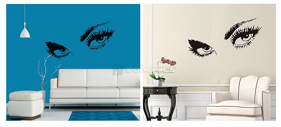 wandtattoo audrey hepburn augen wandsticker wandaufkleber schlafzimmer fwt60e ebay. Black Bedroom Furniture Sets. Home Design Ideas