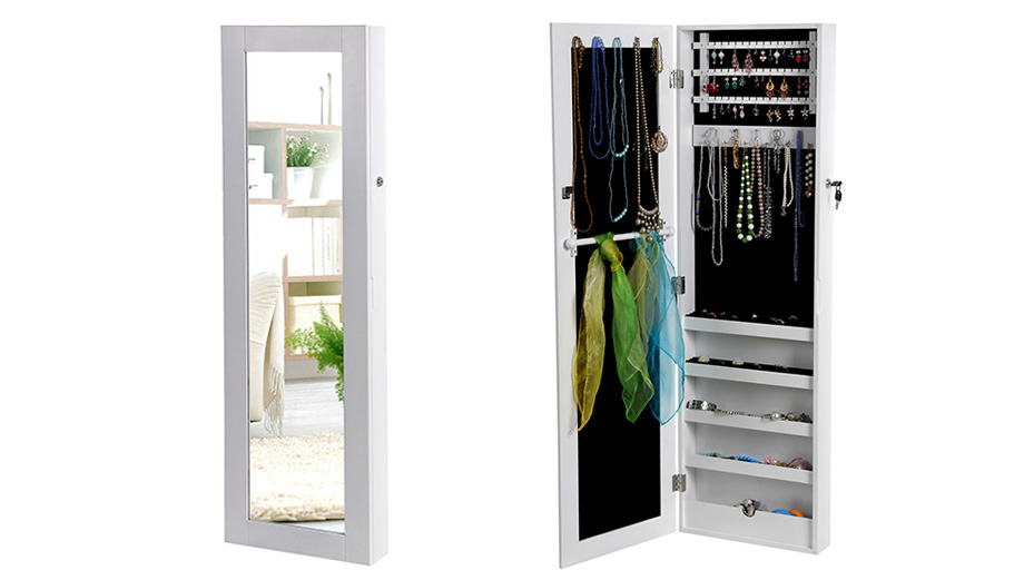 armoire a bijoux murale armoire bijoux armoire glace clairage led armoire suspendue miroir. Black Bedroom Furniture Sets. Home Design Ideas