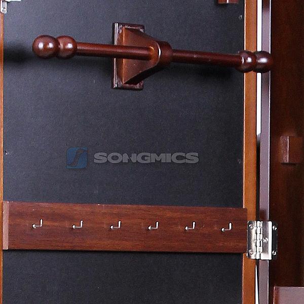 songmics schmuckschrank standspiegel spiegelschrank schrank mit spiegel jbc82k ebay. Black Bedroom Furniture Sets. Home Design Ideas