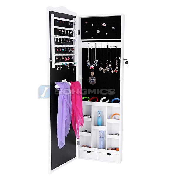 songmics 3 in 1 schmuckschrank spiegelschrank standspiegel wandspiegel jbc84w ebay. Black Bedroom Furniture Sets. Home Design Ideas