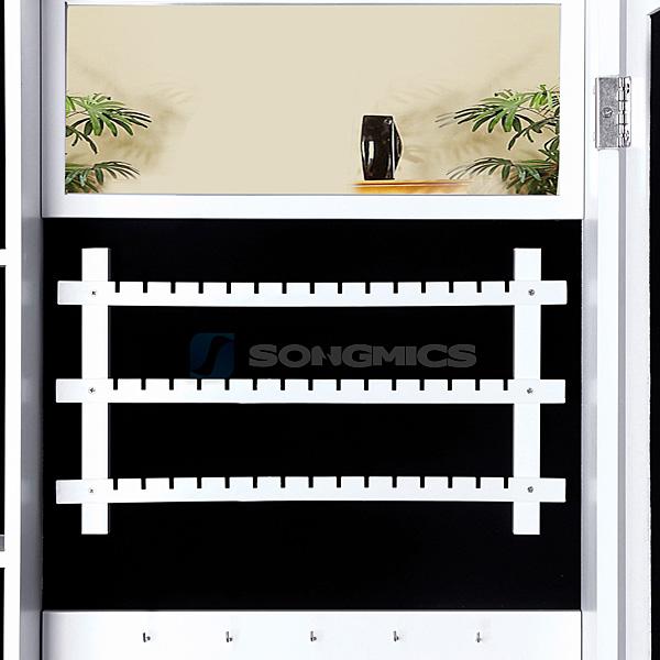 songmics schmuckschrank standspiegel schmuckkommode schrank mit spiegel jbc88w ebay. Black Bedroom Furniture Sets. Home Design Ideas